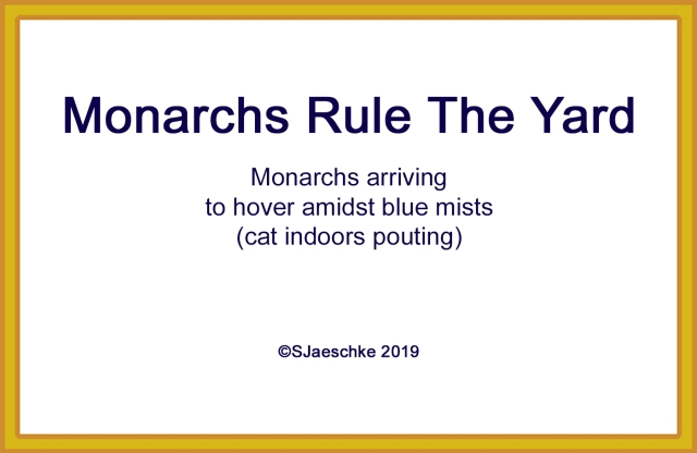 Post_2019-10-19_Poem_MonarchsRuleTheYard